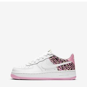 Nike Airforce 1 Pink and Lime Cheetah Print